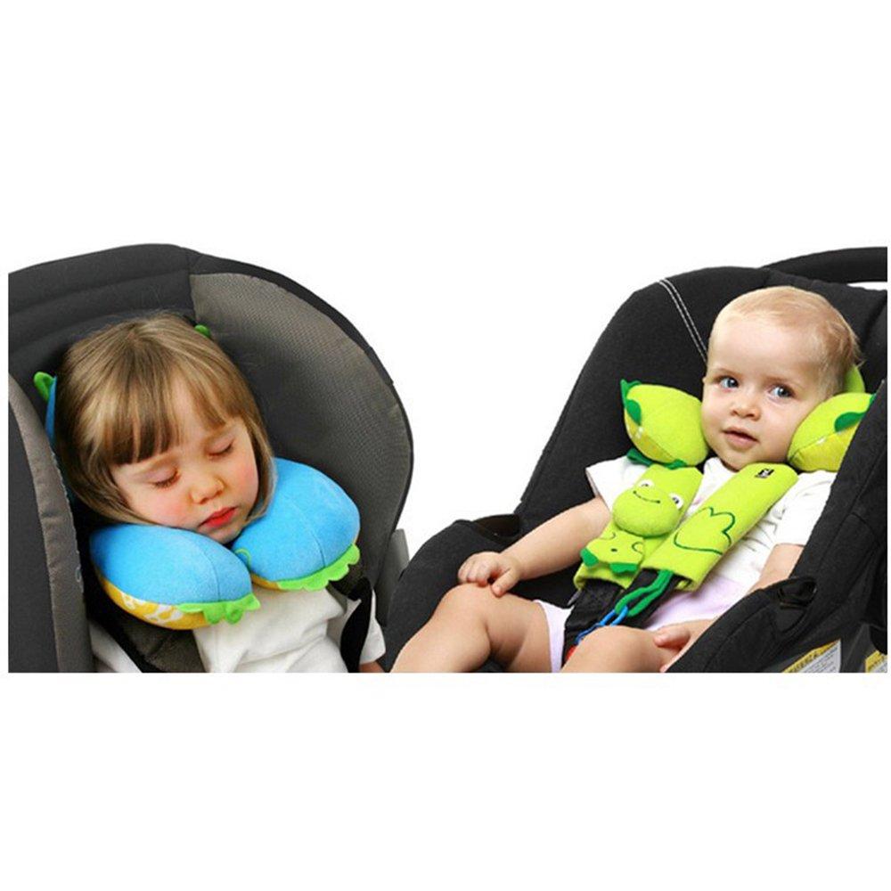 Infant Stroller Neck Cushion U Shape Pillow Cartoon Design Baby Carseat Head Support Pillow Kids Travel Companion for Unisex Child