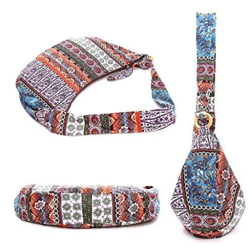 New Tote Bags Bag JAGENIE Crossbody Hippie Vintage Purple Purple Messenger Boho Ethnic Women Shoulder dx6qRp