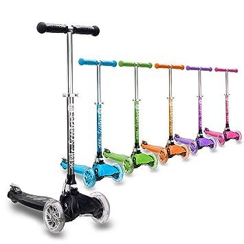 3StyleScooters® RGS-1 Patinete de Tres Ruedas, para Niños de 3+ años - Plegable, Ruedas Iluminadas LED, Ligero, con Altura Manillar y Asas Ajustables