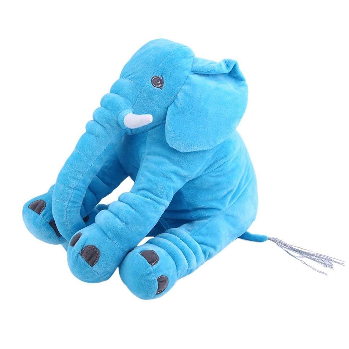 Fantasyworld Cojín de Peluche Animal Niños del bebé Que Duerme Almohada Suave del Juguete Elefante Lindo Algodón Forma muñeca de Peluche y Felpa Suave
