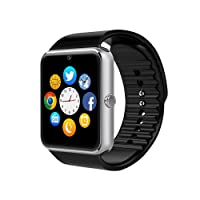 Smartwatch GT08 Relógio Inteligente Bluetooth Gear Chip Android iOS Touch Faz e atende ligações SMS Pedômetro Câmera - PRATA