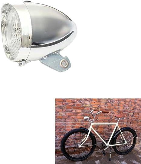 Faro delantero Igemy con 3 leds para bicicletas, estilo vintage ...