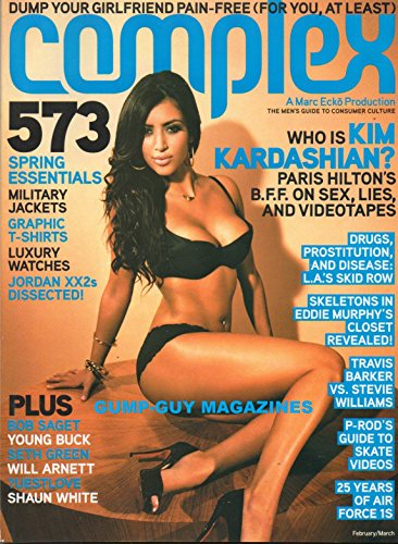 COMPLEX 2007 Magazine WHO IS KIM KARDASHIAN? PARIS HILTON'S BFF ON SEX, LIES, AND VIDEOTAPES L.A.'s Drugs, Prostitution, And Disease SKELETONS IN EDDIE MURPHY'S CLOSET REVEALED (Kim Kardashians Sex Tape)