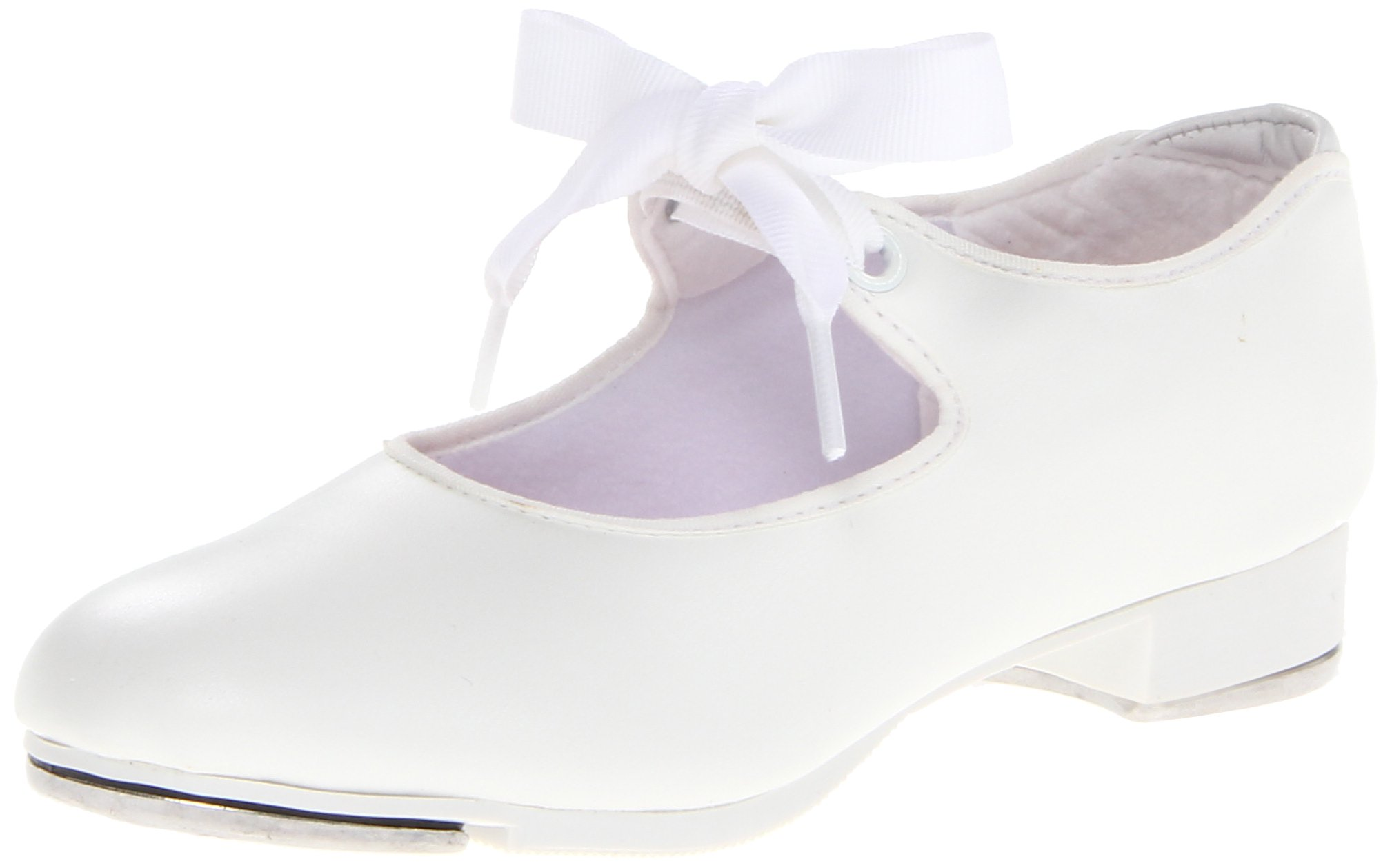 Capezio Jr.Tyette N625C Tap Shoe (Toddler/Little Kid),White,2 W US Little Kid
