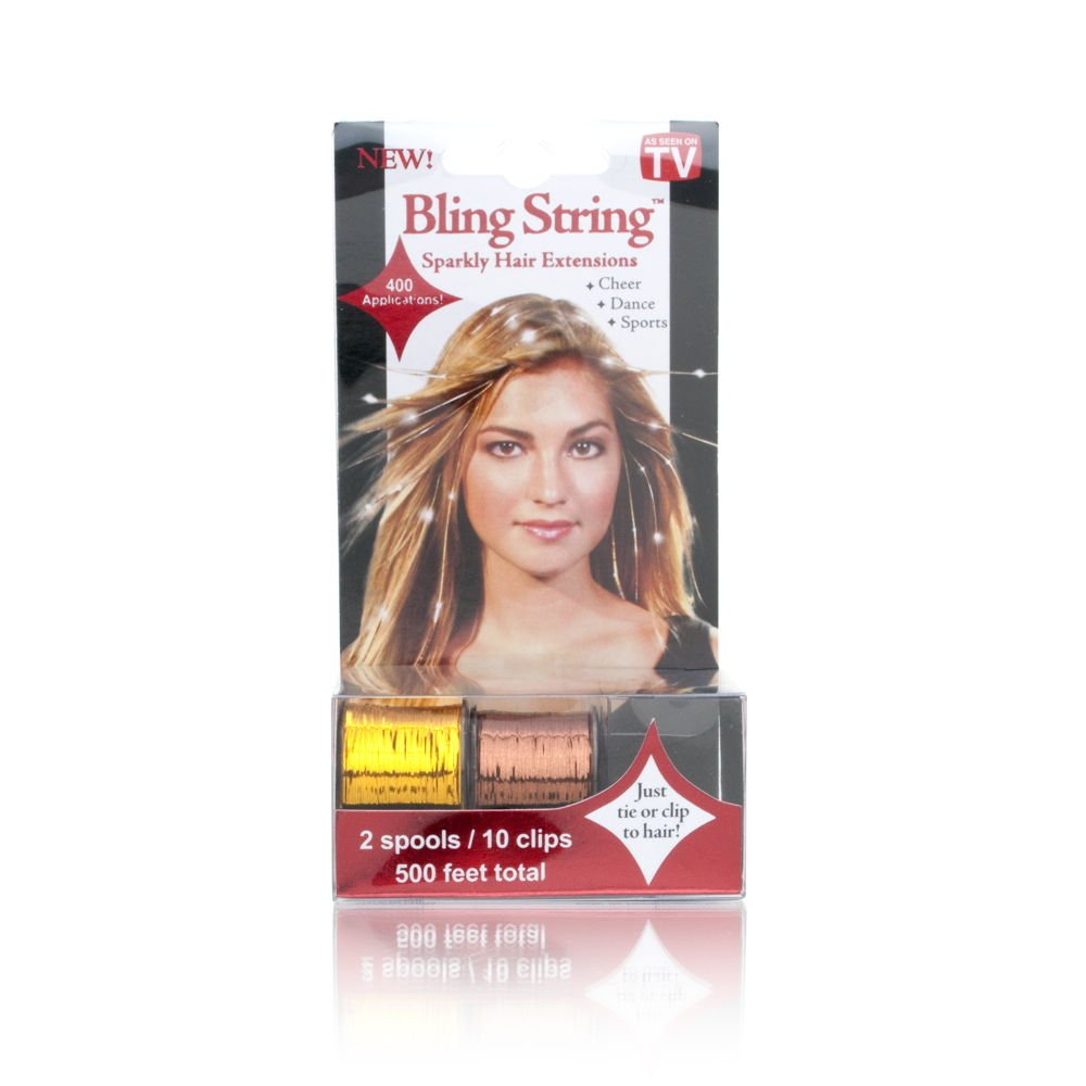 Amazon As Seen On Tv Bling Stringtm Sparkly Hair Extensions