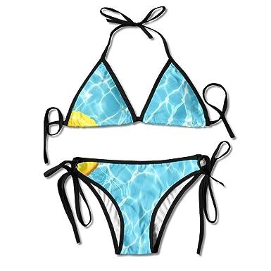 Amazon.com: Piscina Agua Fría Bikini mujer bañadores de ...