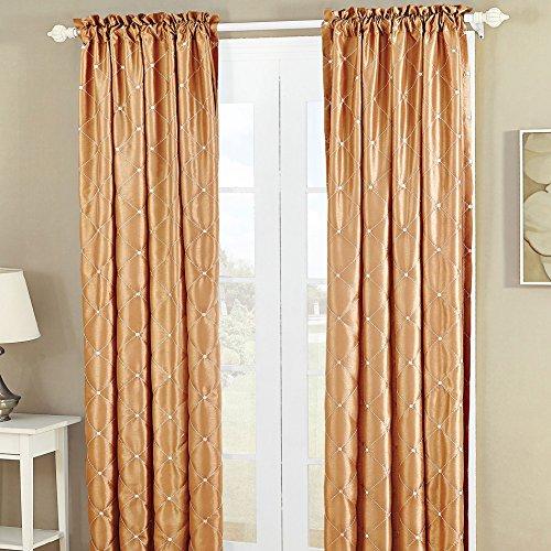 (Home Soft Things CTEFSDDGOLD6084 Curtain, 60