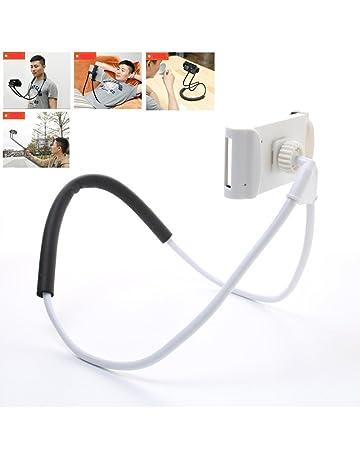 BNTTEAM Universal 360 Rotación Flexible teléfono móvil Tablet Selfie soporte para el cuello Serpiente coche cama