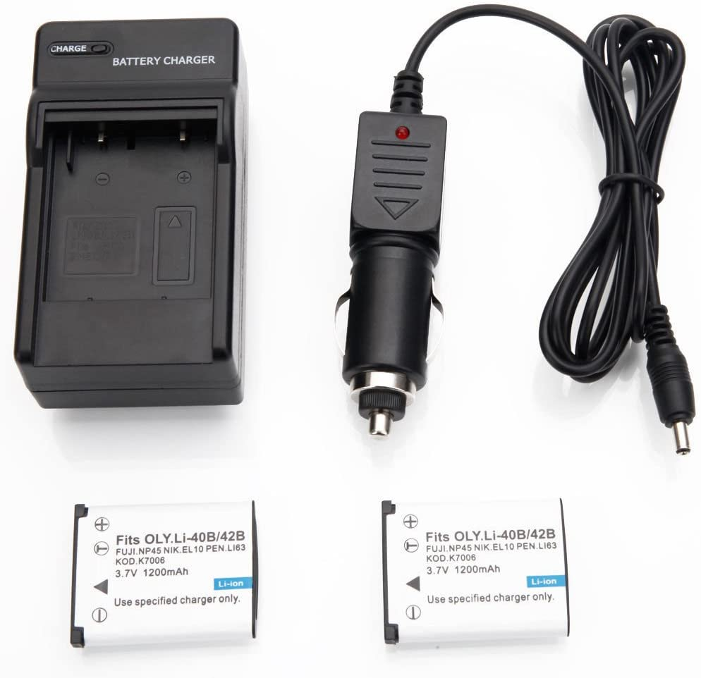 Charger yan New Lot2 LI-40B LI-42B Camera Battery for Olympus Stylus WP 720 790 SW