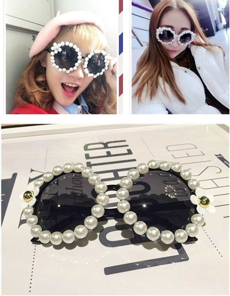 KOOBOOK 1Pcs Fashion Flowers Round Sunglasses Women Lady Eye Protection Sunbath Beach Eyewear Sunglasses