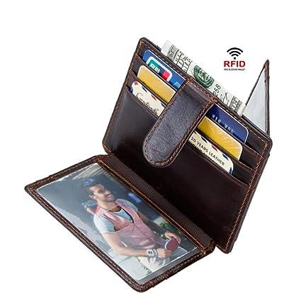 5166d089f69420 Chenyuying Porta Carte di Credito in Pelle Porta Carte RFID Anti-Magnetico  da Uomo Porta