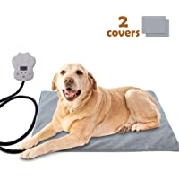 Sotical Pet Heating Pad, Electric Heating Pad for Cats and Dogs Waterproof Warming Mat with Chew Resistant Cord Soft Remove Cover Overheat Protection