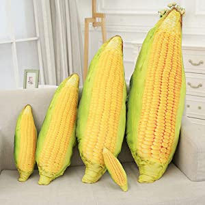 LZYMSZ Corn Throw Pillow,Vegetables Plush Stuffed Toy Doll,Soft Decorative Cushion Doll for Sofa Home Bedroom Office Dormitory in Valentine's Day, Christmas, Birthday (L-27.6'')