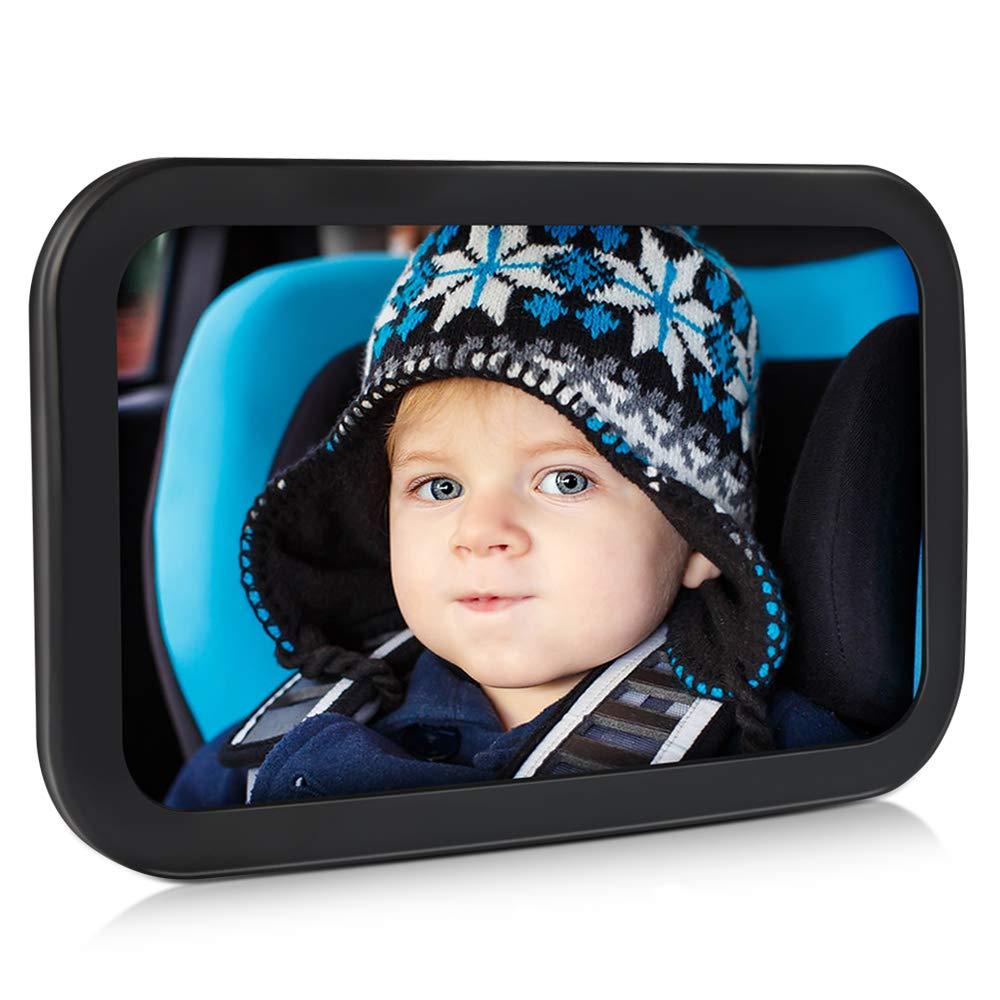 Spiegel Auto Baby, Pomisty Rü cksitzspiegel Auto fü r Baby,Autospiegel Kind Baby,Babyspiegel mit Sicher & Bruchsicher, 360 ° Rotation fü r Kinder in Kinderschale, Kindersitz, Babysitz