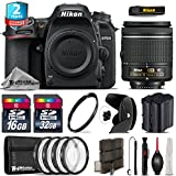 Holiday Saving Bundle for D7500 DSLR Camera + AF-P 18-55mm + 2yr Extended Warranty + 32GB Class 10 Memory + Backup Battery + 16GB Class 10 + 4PC Macro Kit - International Version