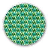 Uneekee Checkered Polygon Kaleidoscope Lazy Susan: Large, pure birch wooden Turntable Kitchen Storage