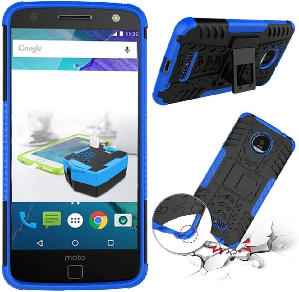 tinyue® Funda para Motorola Moto X4 Smartphone, Soft TPU + Hard PC Funda a Prueba de Golpes de Parachoques Case, con Soporte Armadura de Serie Hyun, Azul Oscuro: Amazon.es: Electrónica