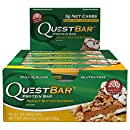Quest Nutrition Protein Bar, Peanut Butter Supreme, 20g Protein, 5g Net Carbs, 210 Cals, High Protein Bars, Low Carb Bars, Gluten Free, Soy Free, 2.1 oz Bar, 12 Count