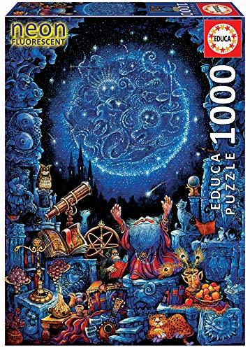 Educa Puzzle Glue - Educa 1000pc Puzzle Neon Astrologer