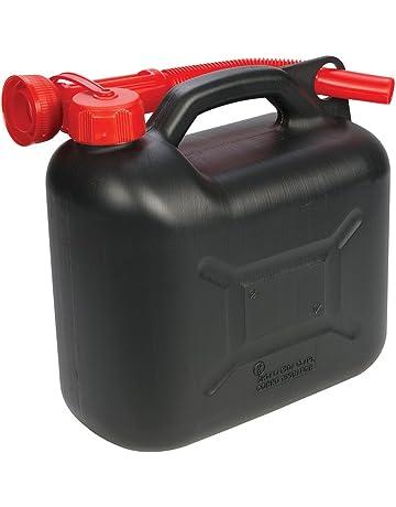 Silverline 199991 - Bidón de plástico para combustible 5 litros, surtido (negro o verde