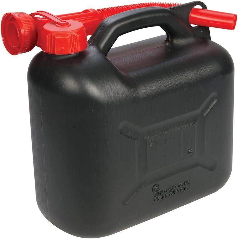 Silverline 199991 - Bidón de plástico para combustible 5 litros, surtido (negro o verde)