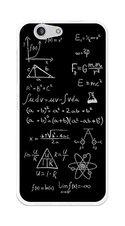 Tumundosmartphone Funda Gel TPU para ZTE Blade A512 diseño Formulas Dibujos