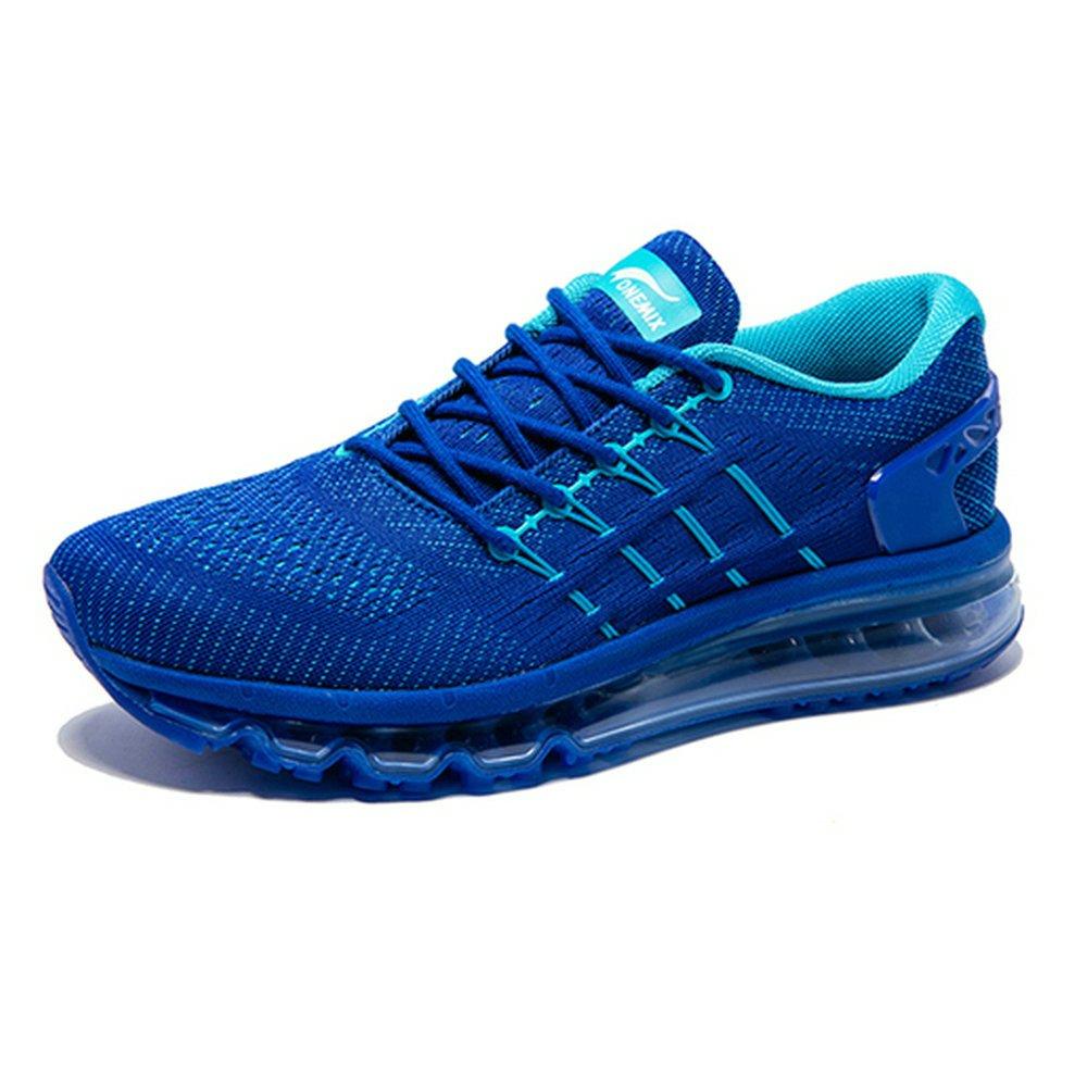 Onemix Hombre Mujer Air Mojadura Atlético Unisex Adulto Respirable Gimnasio Zapatos Para Correr 43 EU Azul