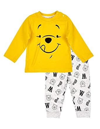 113628d8f93 Winnie l ourson Ensemble Pantalon et t-Shirt bébé garçon Jaune Gris ...