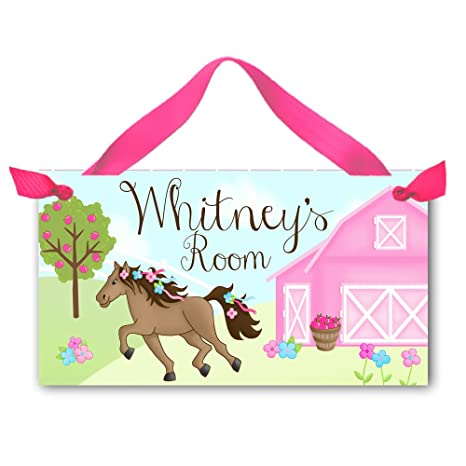 Amazon.com: Rosa Caballo Pony Barnyard Flores Cartel para ...