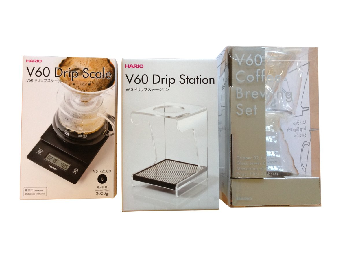 Hario V60 Complete Coffee Brewing Set - Scale, Brewer Set & Stand by Hario (Image #2)