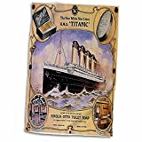 "3D Rose Vintage White Star Line Titanic Vinolia Otto Toilet Soap Advertising Poster Towel, 15"" x 22"""