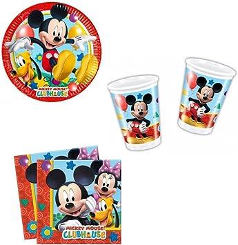 Set per tavolo topolino piatti bicchieri tovaglioli| sindy