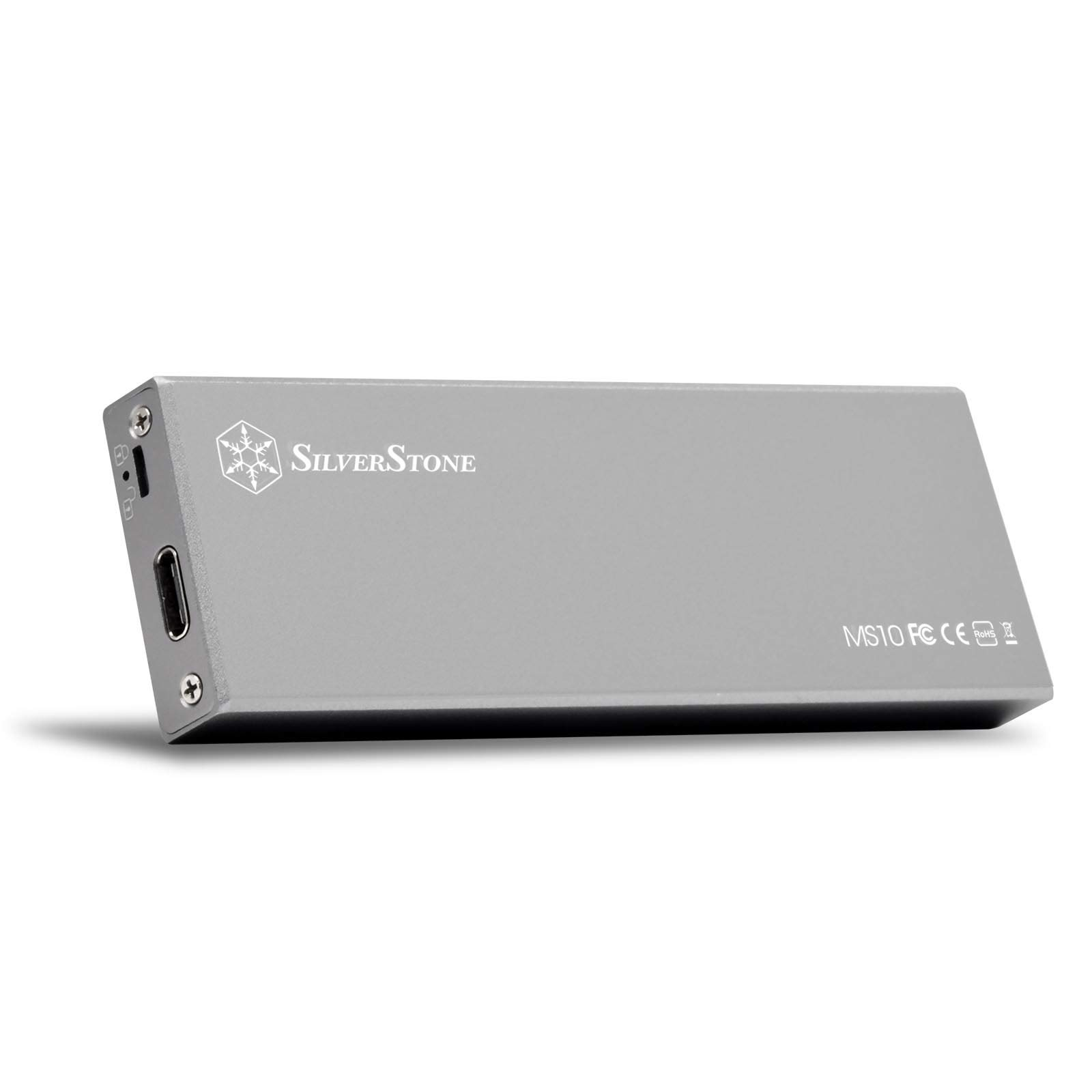 SilverStone Technology M.2 SATA SSD Enclosure Dor 2242, 2260, 2280 US 3.1 Gen 2 Interface Up to 10 GB/S with Type C Cable