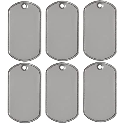 Amazon.com  25 Blank Military Style Dog Tags  Arts 1a22ee6afbc