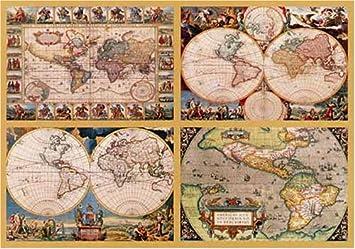 Ravensburger puzzle 18240 pieces 4 historic world maps amazon ravensburger puzzle 18240 pieces 4 historic world maps gumiabroncs Image collections