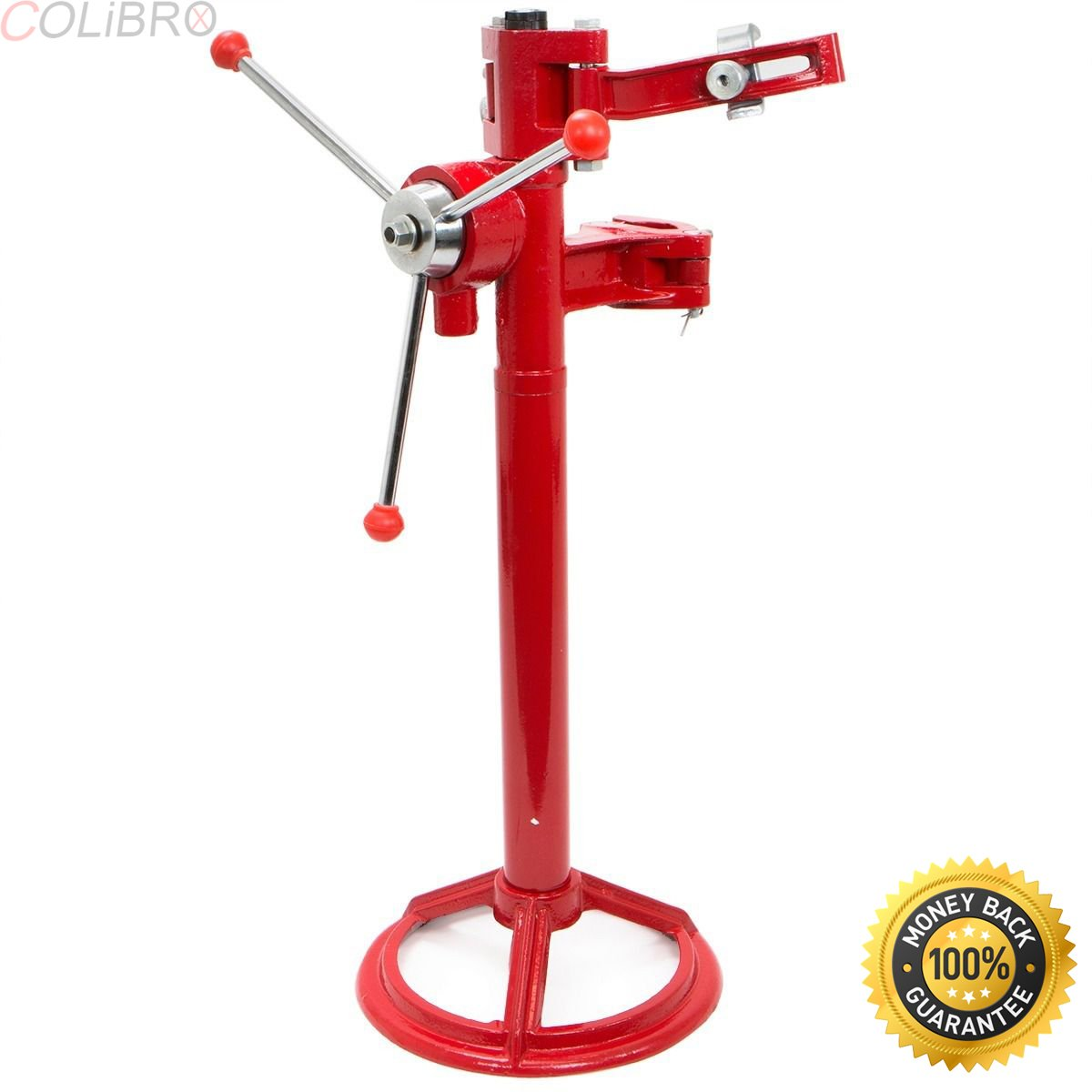 COLIBROX--Hand Operate Strut Coil Spring Press Compressor Auto Equipment High Speed Tool. Hand operated, compress 3 Knob handle, Rounded base provide by COLIBROX