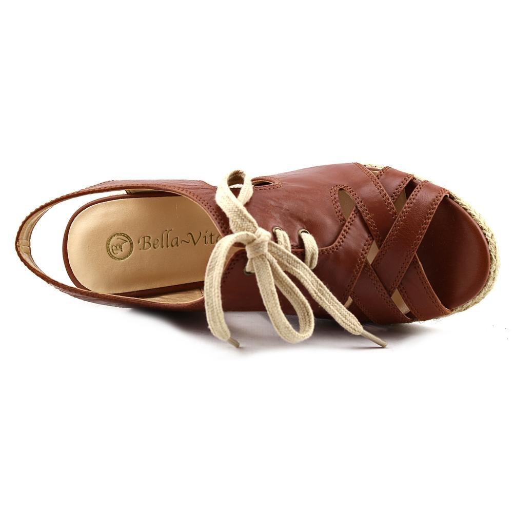 Bella Vita Gracia Dark Damen Breit Keilabsätze Sandale Dark Gracia Tan Leder 493326