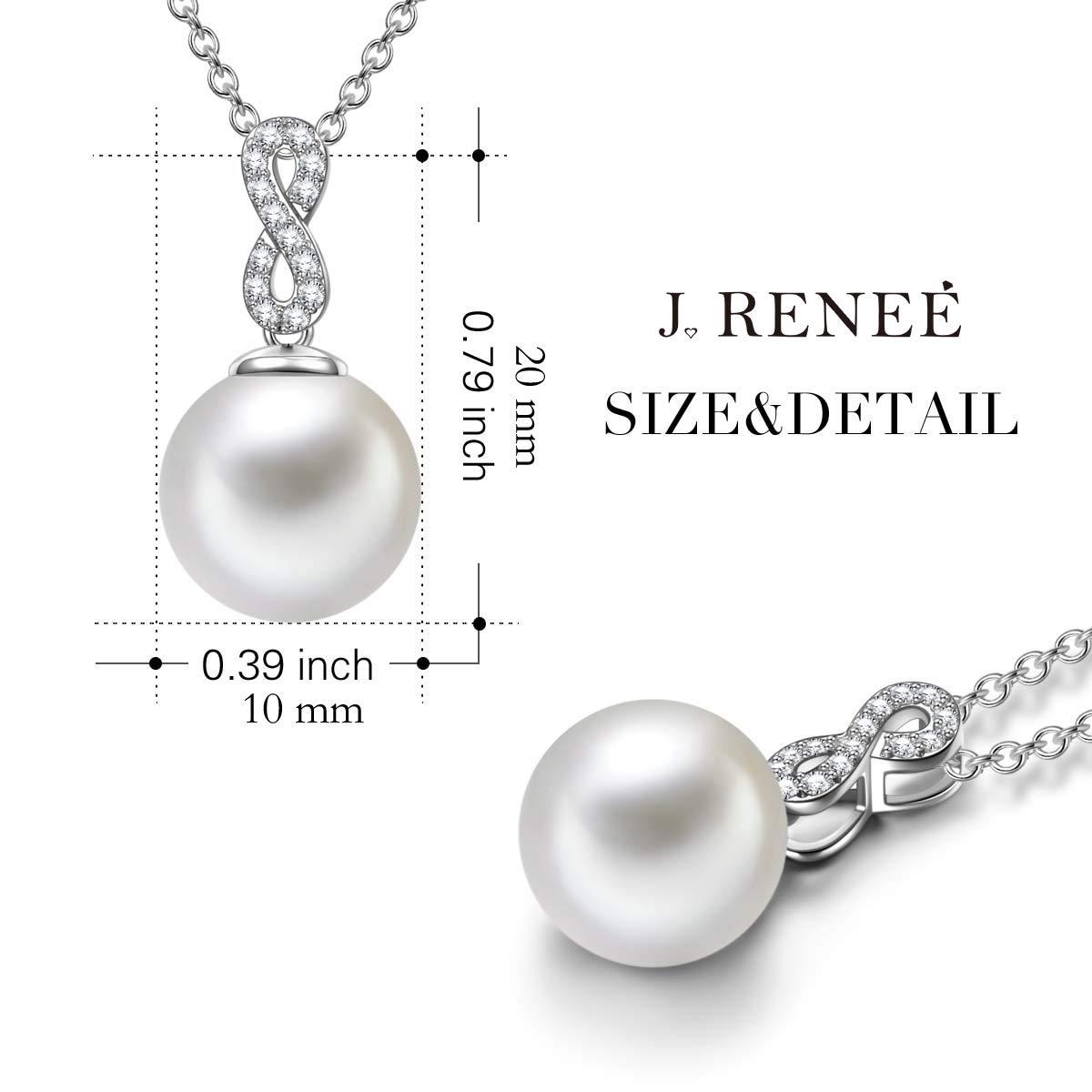 J. RENEÉ Perla Infinita Plata de Ley 925 Colgante, Collar Perla de Swarovski, Joyas para Mujer, Colgantes Mujer, Regalos Mujer: Amazon.es: Joyería