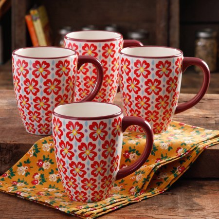 Daisy Jumbo (The Pioneer Woman Retro Daisy 26-Ounce Jumbo Latte Mug Set, 4-Pack)