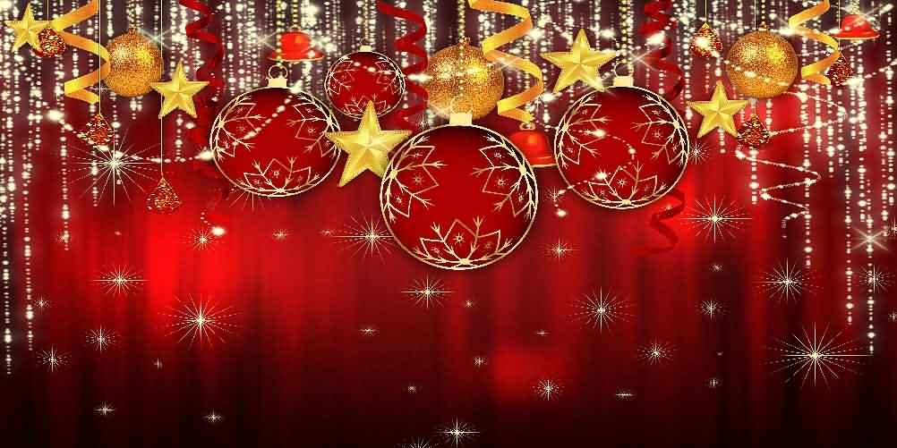 GladsBuy Shiny Christmas Balls 20' x 10' Computer Printed Photography Backdrop Christmas Theme Background LMG-163 by GladsBuy
