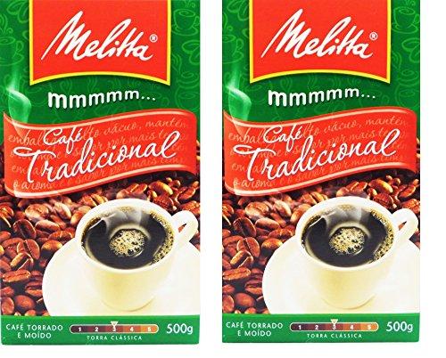 Melitta - Traditional Roasted Coffee - 17.6 oz (PACK OF 02) | Melitta Café Torrado e Moído Tradicional - 500g