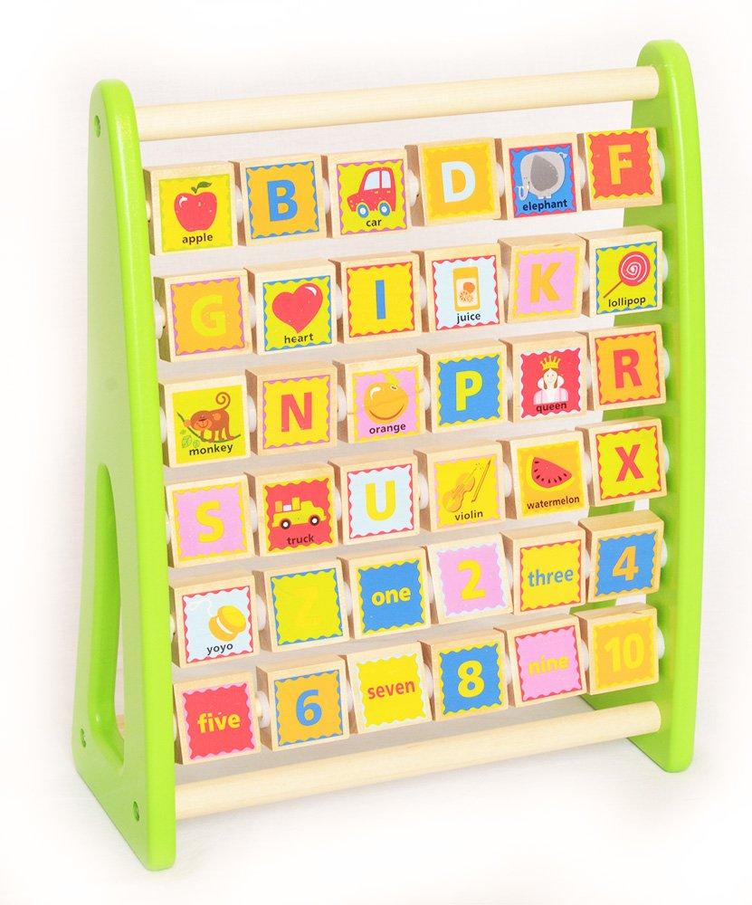Alphabet Abacus mit Englischem Vokabular Tooky Toy