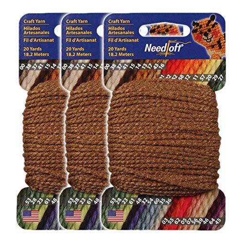 #13 Maple - Needloft Craft Yarn 3 Pack 60 Yards (3x20yds)