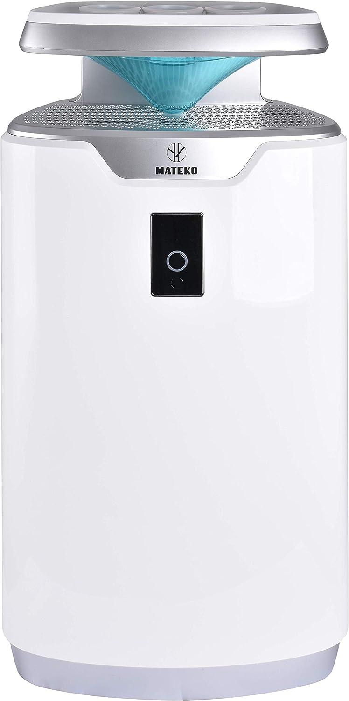 MATEKO GAP Lavender 3 - Purificador de aire mecánico y biológico, 360 m3/h, humidificador, color blanco