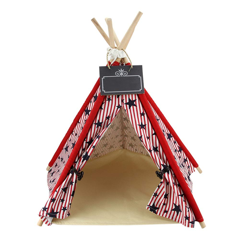 1(no pad) LRyan Dog Teepee, Detachable Pet Nest For Small And Medium Dogs Pet Tent (color   1(with pad), Size   M)