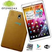 Indigi 7.0 Fastest Dual-Core Gold Android 4.2 Tablet PC HDMI Google Play Leather Back