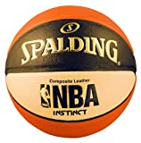 Spalding Men's NBA Instinct Basketball, Orange/Black/Oatmeal, Size 7...