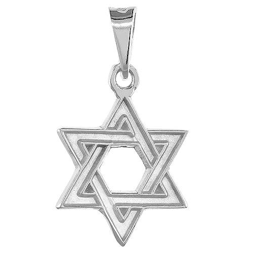 Amazon sterling silver star of david pendant 1316 inch wide sterling silver star of david pendant 1316 inch wide aloadofball Choice Image