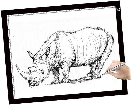 Caja de luz LED ultrafina A3 para dibujo, con luz LED y cable USB, para dibujo, dibujo, animación, fotografía diseñada para el artista: Amazon.es: Hogar