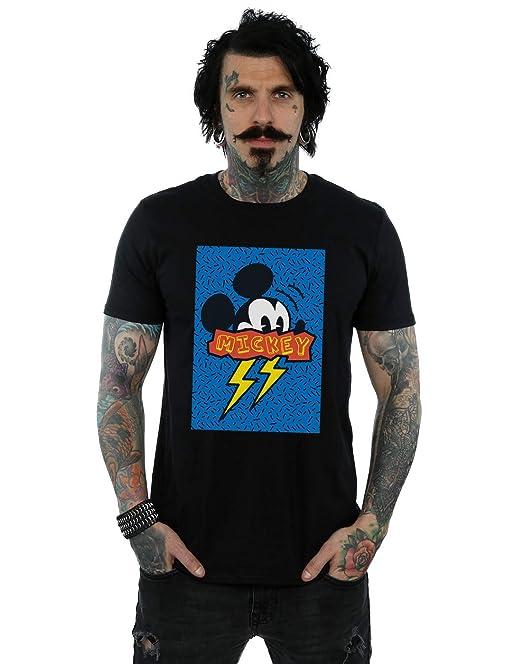 057dbe20179 Disney Men s Mickey Mouse 90s Flash T-Shirt  Amazon.co.uk  Clothing